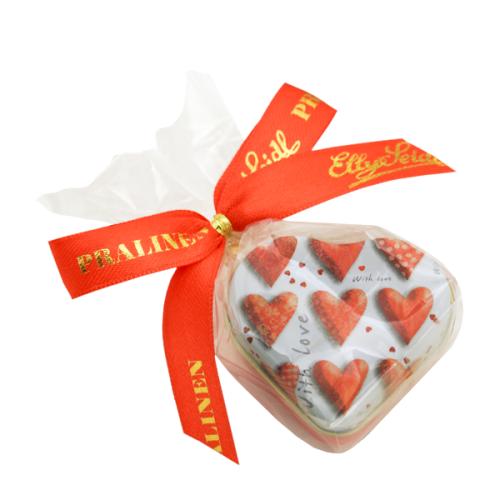 Herzdöschen gefüllt mit 1-er Praline (10g)