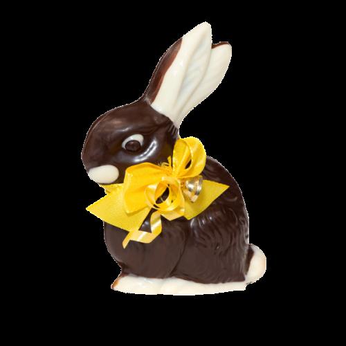 Hase mit Nougatfüllung groß, Zartbitterschokolade