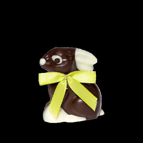 Hase mit Nougatfüllung klein, Zartbitterschokolade