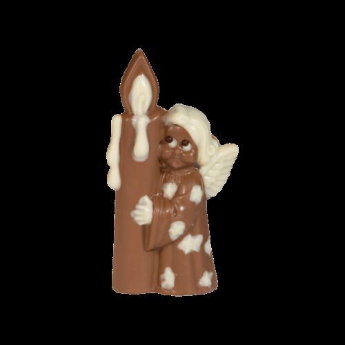 Nougat-Engel mit Kerze, Vollmilchschokolade